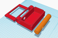 Model of the PiDS made with Tinkercad